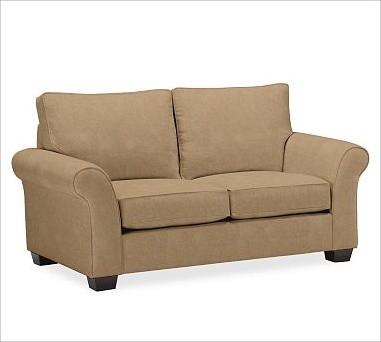 PB Comfort Roll UpholsteredLoveseatEverydaySuedeLight WheatUpholsteredPoly traditional-sofas