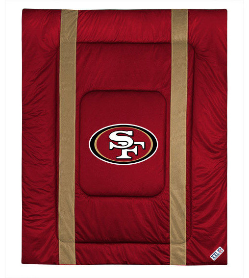 NFL San Fransisco 49ers Queen Comforter Football Bed
