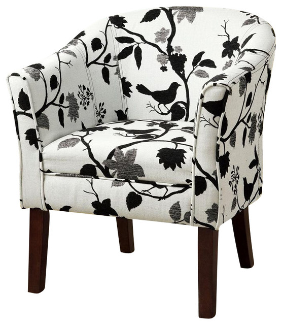 Coaster Accent Chair in Bird and Branch Pattern ...