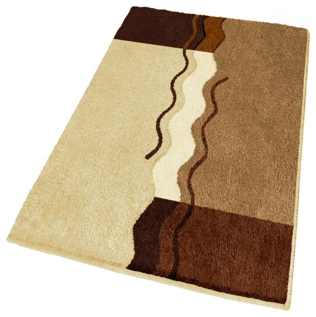 Extra Large Modern Brown Bathroom Rug 27 6 X 47 2 Modern Ba
