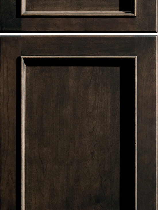 """Dura Supreme Cabinetry - Dura Supreme Cabinetry Chapel Hill Panel Cabinet Door Style - Dura Supreme Cabinetry """"Chapel Hill Panel"""" cabinet door style in Cherry shown with Dura Supreme's """"Peppercorn"""" gray stained finish."""