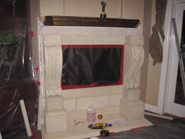 Precast Fireplace Mantels mediterranean-fireplaces