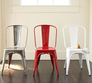 Metal Dining Chairs homesullivan walker white wood and metal high back dining chair