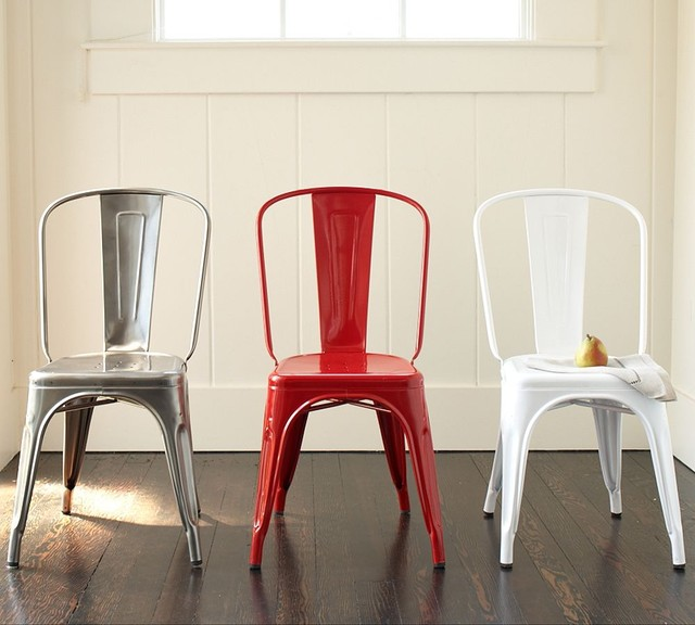 eclectic dining chairs and benches by Pottery Barn