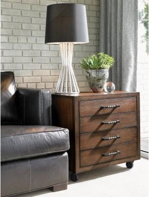 Lexington 11 South Moda Rectangular Umbria Wood Chairside Chest modern-dressers