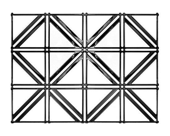 0606 Aluminum Backsplash Tile - Glossy Black & Glossy White - Real Metal Backsplashes.
