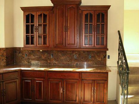 Cherry Walnut Kitchen Cabinets Home Design Traditional