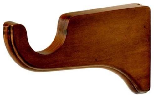 Kirsch 2 Inch Wood Trends 6 Inch Return (Long) Bracket curtain-rods