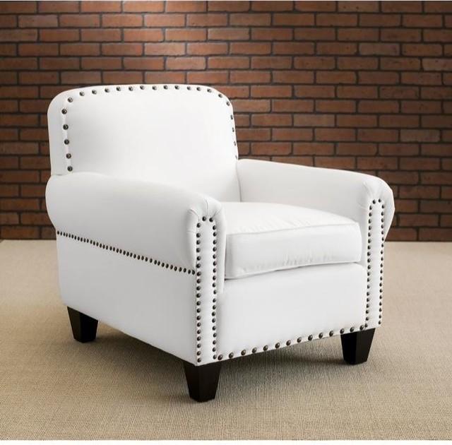 Chester White Club Chair modern-accent-chairs