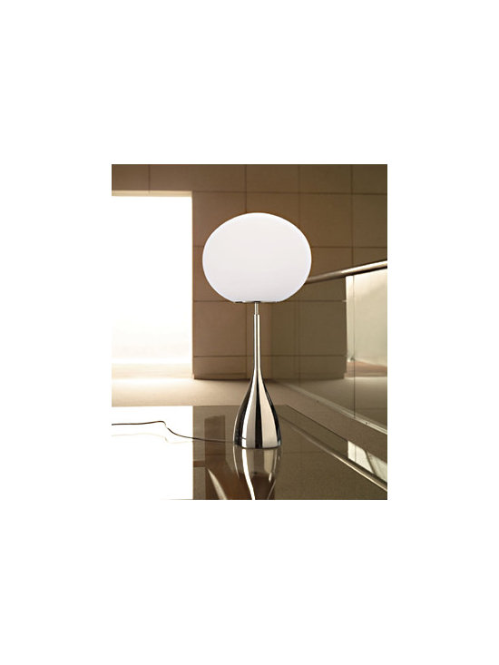 Sphera T Table Lamp By Leucos Lighting - Sphera from Leucos are a series of Table lamp with satin white blown glass diffusers.