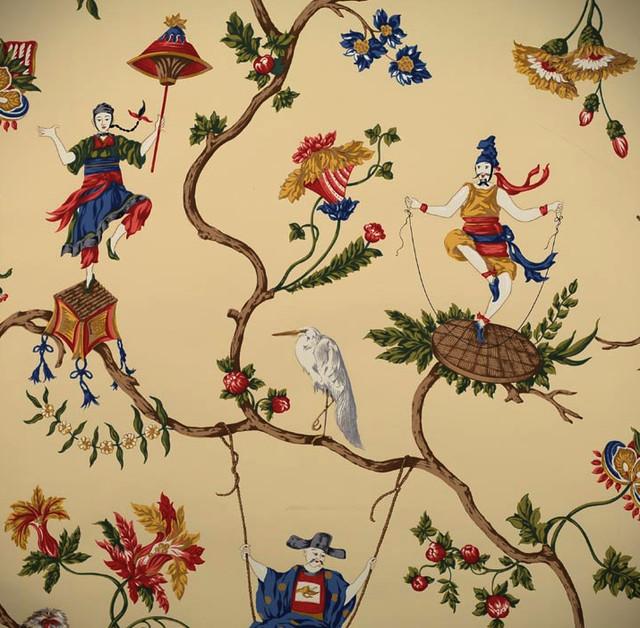 Ming Circus Wallpaper asian-wallpaper
