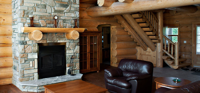 Residential Interior rustic-living-room