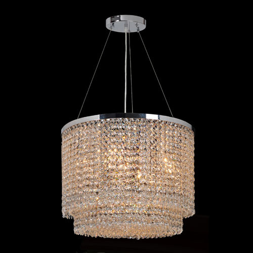 Prism Five-Light Chrome Finish with Clear-Crystals Chandelier contemporary-pendant-lighting