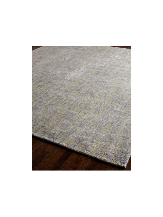 "Horchow - Constance Rug, 5' x 7'6"" - As unique as it is striking, this transitional rug features an exceptional over-tufting technique to enhance its beauty. Machine-woven wool base over-tufted with viscose. Size is approximate. Imported."