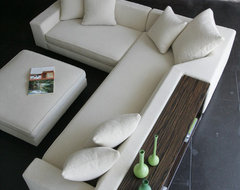 Shea Sectional with Console and Ottoman modern 