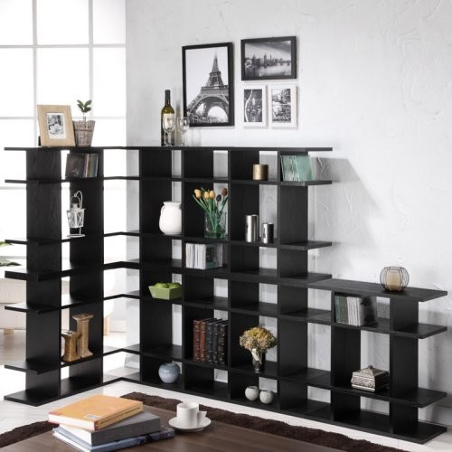 Enitial Lab Cooper Stackable Black Wood Display Stand contemporary-storage-cabinets