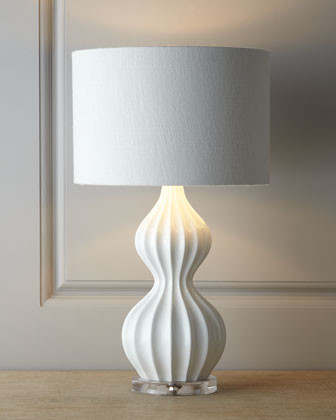 White 'Peanut' Lamp - Modern - Table Lamps - by Horchow