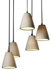 Limoges 5 Light Cluster Pendant by Justice Design pendant-lighting