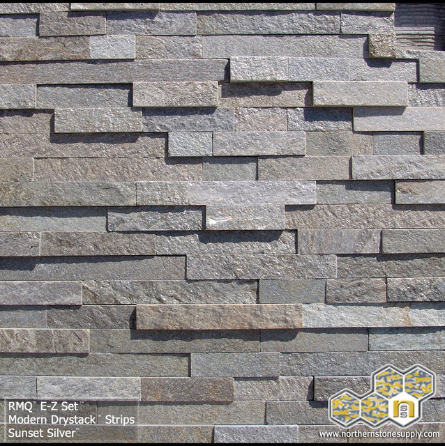 Modern Stone Veneer : Modern dry stack™ quot strips sunset silver™ stacked