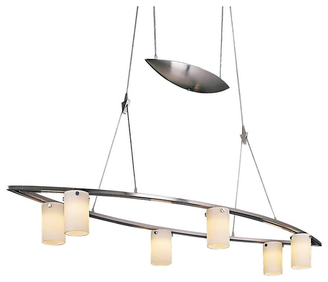 George Kovacs Six Wide Counter Weight Chandelier Contemporary Chandeliers By Euro Style