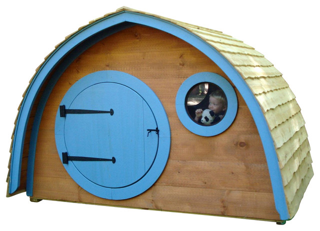 Little Merry Hobbit Hole Playhouse base kit eclectic-outdoor-playhouses
