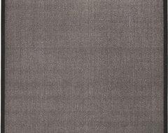 Natural Fiber Charcoal/Charcoal Rug modern-rugs