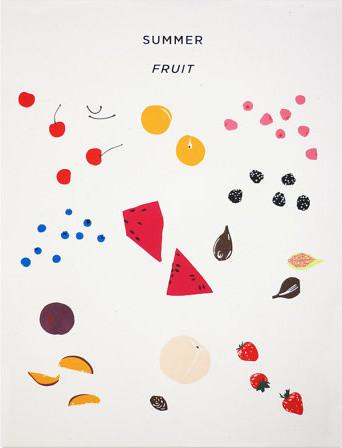Summer Fruit Print by Claire Nereim contemporary-artwork