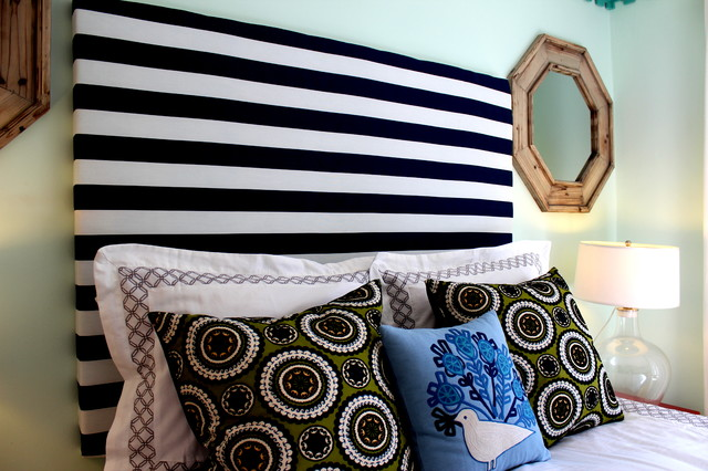 DIY Stripe Headboard eclectic headboards