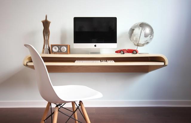 Botanist Minimal Float Wall Desk contemporary-desks