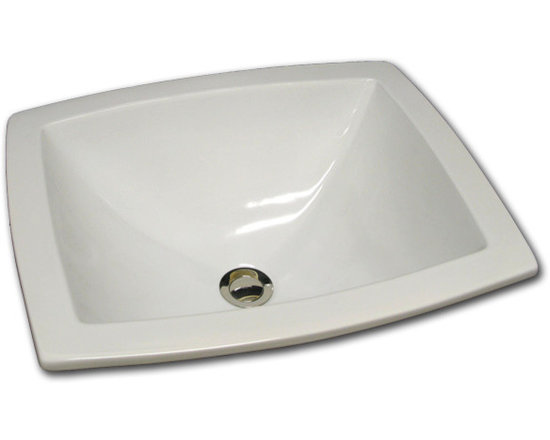 Rectangle Ceramic Sink - HB-79-100, Rectangle sink with flat rim. Available in white, off white, matte or gloss. Can also be finished to client specifications. Can be used as self rimming, under mount or flush mount. Visit our website to see more.