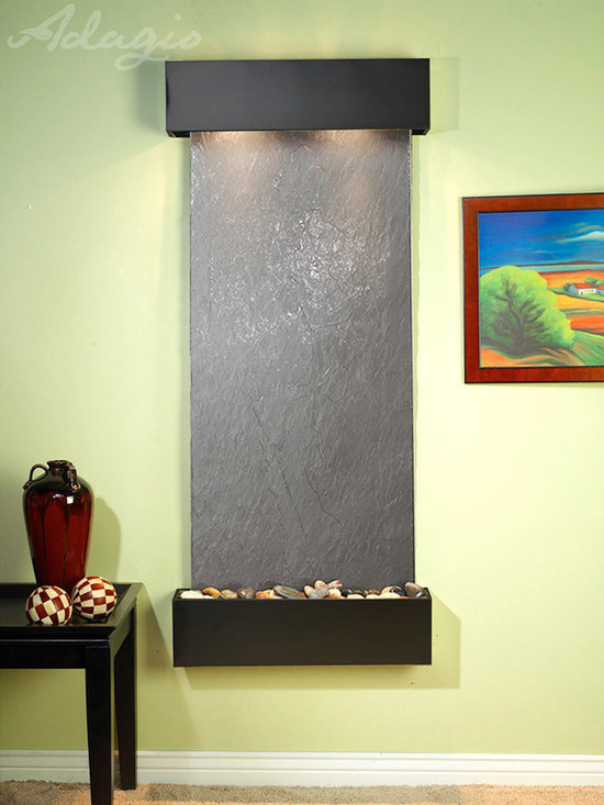 The Inspiration Falls Indoor Fountains - The Inspiration Falls wall mounted water feature is one of our top selling fountains and for good reason. Its sleek vertical design makes it an ideal piece for almost any location including hallways, bedrooms, and entryways. This well made water feature is hand crafted by some of the finest artisans in the world and is guaranteed to operate for years to come. Make no mistake this wall fountain is well sized and will attract a great deal of attention, helping to transform your indoor environment into a tranquil oasis.