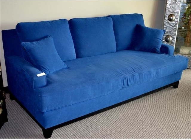 Blue Microfiber Sleeper Sofa Eclectic Sleeper Sofas