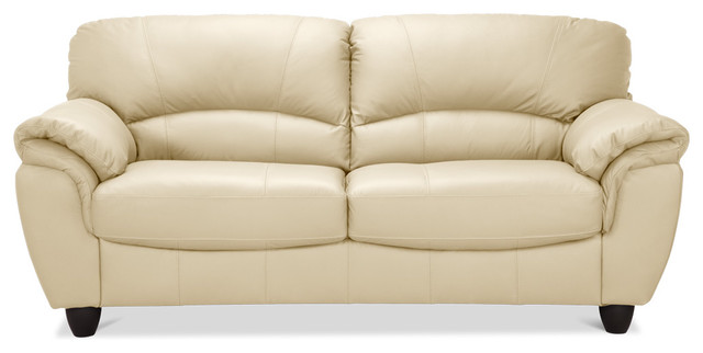 betty large sofa beige leather traditional sofas. Black Bedroom Furniture Sets. Home Design Ideas
