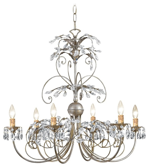 """Crystorama Victoria Collection Silver 28"""" Wide Chandelier traditional-chandeliers"""