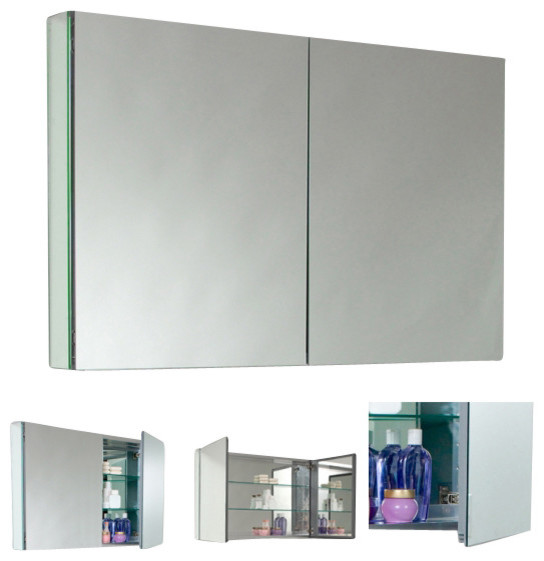 Fresca Fmc8010 40 Inches Wide Bathroom Medicine Cabinet With Mirrors Mirror 40 Modern