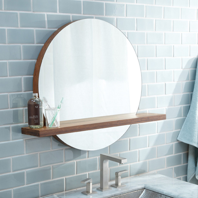 Bamboo Solace Mirror with Shelf by Native Trails modern-wall-mirrors