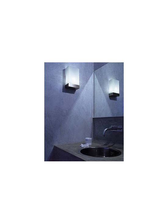 Tin Square Wall Lamp \ Sconce By Flos Lighting - Wall Scone providing diffused and direct light.