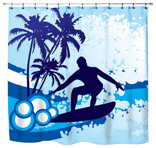 Surf Themed Shower Curtain Sun Themed Shower Curtains