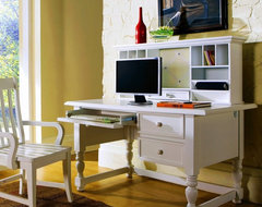 Bella Computer Desk with Optional Hutch and Chair - Cream modern desks