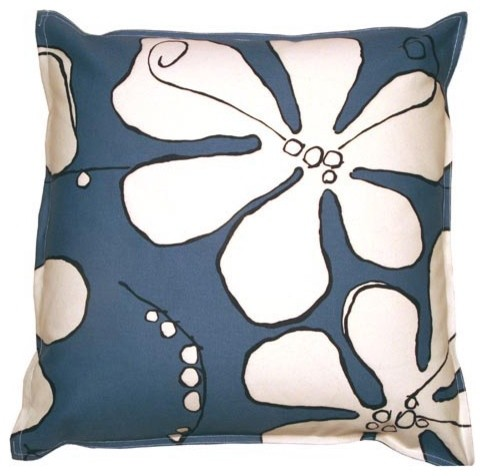 Canvas Mystic Poppy Oversized Floor Pillow contemporary-floor-pillows-and-poufs