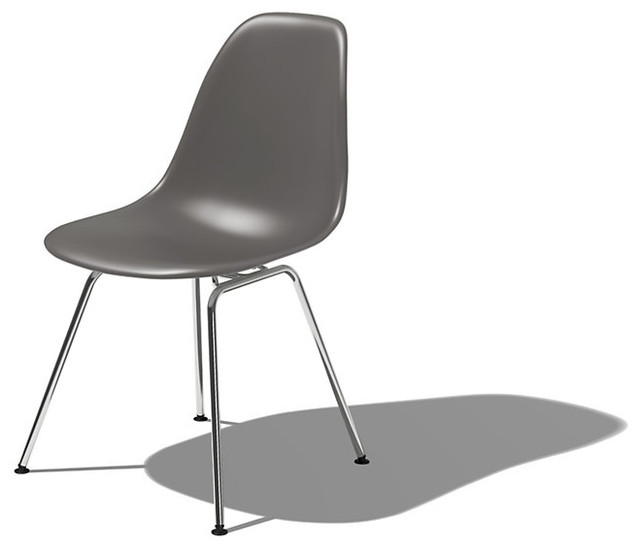 eames molded plastic side chair modern dining chairs by