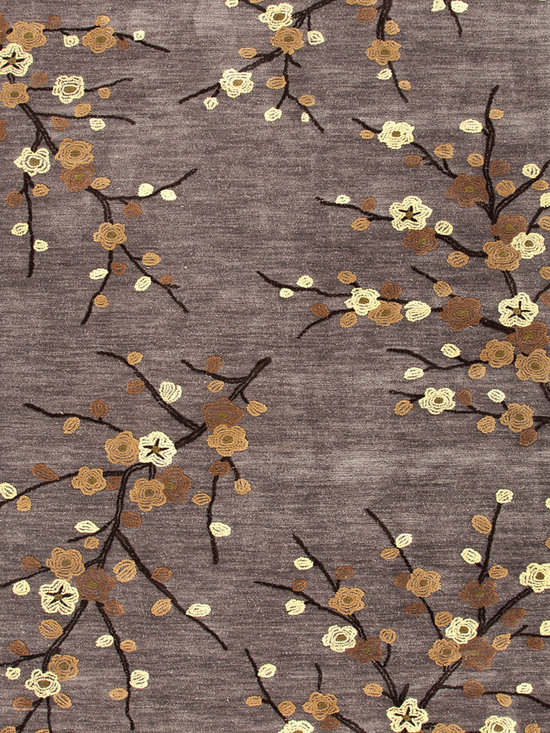 Jaipur Rugs - Transitional Floral Pattern Gray /Black Polyester Tufted Rug - BR16, 3.6x5.6 - A youthful spirit enlivens Esprit, a collection of contemporary rugs with joie de vivre! Punctuated by bold color and large-scale designs, this playful range packs a powerful design punch at a reasonable price.