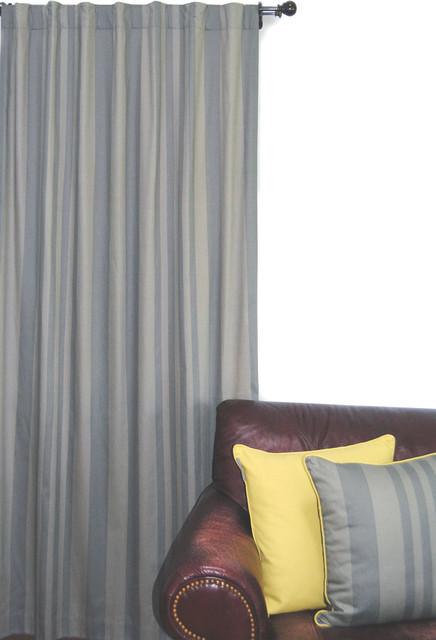 Metro Collection - Tonal Stripe Window Panel modern-curtains
