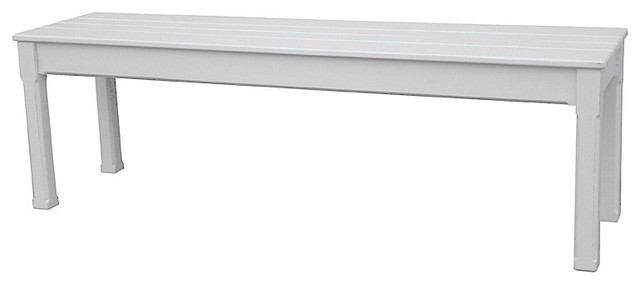 Trade Winds Furniture White Cottage Queen Bench contemporary-dining-benches