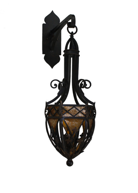 Custom Iron Wall Sconces : Custom Hand Made Iron Sconces - Mediterranean - Wall Sconces - san diego - by Hacienda Lights ...