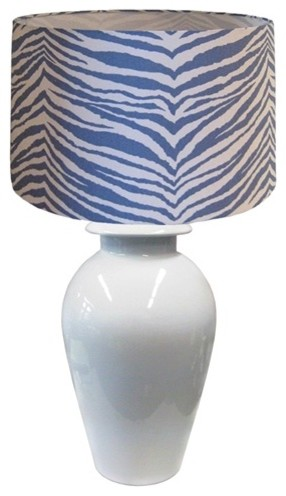 Blue Zebra Shade eclectic-lamp-shades