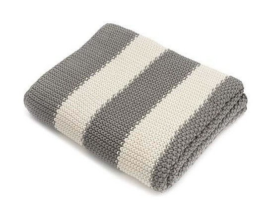 Belle & June - Stripe Cotton Blanket - Wrap yourself in classic comfort with our luxuriant throws, made from wonderfully warm, soft fibers in colors to bring out the best in your home decor. Great for a brightly colored living room or in a modern nursery!