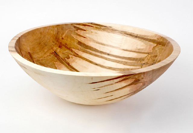 Stinson Studios Maple Salad Bowl contemporary serveware
