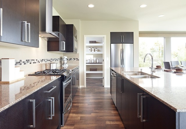 Bellmont 1600 Installed Product - contemporary - kitchen cabinets