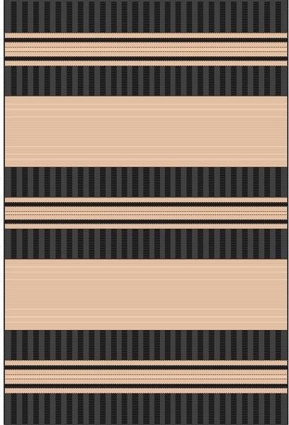 Black Stripe Design Outdoor Rug outdoor-rugs